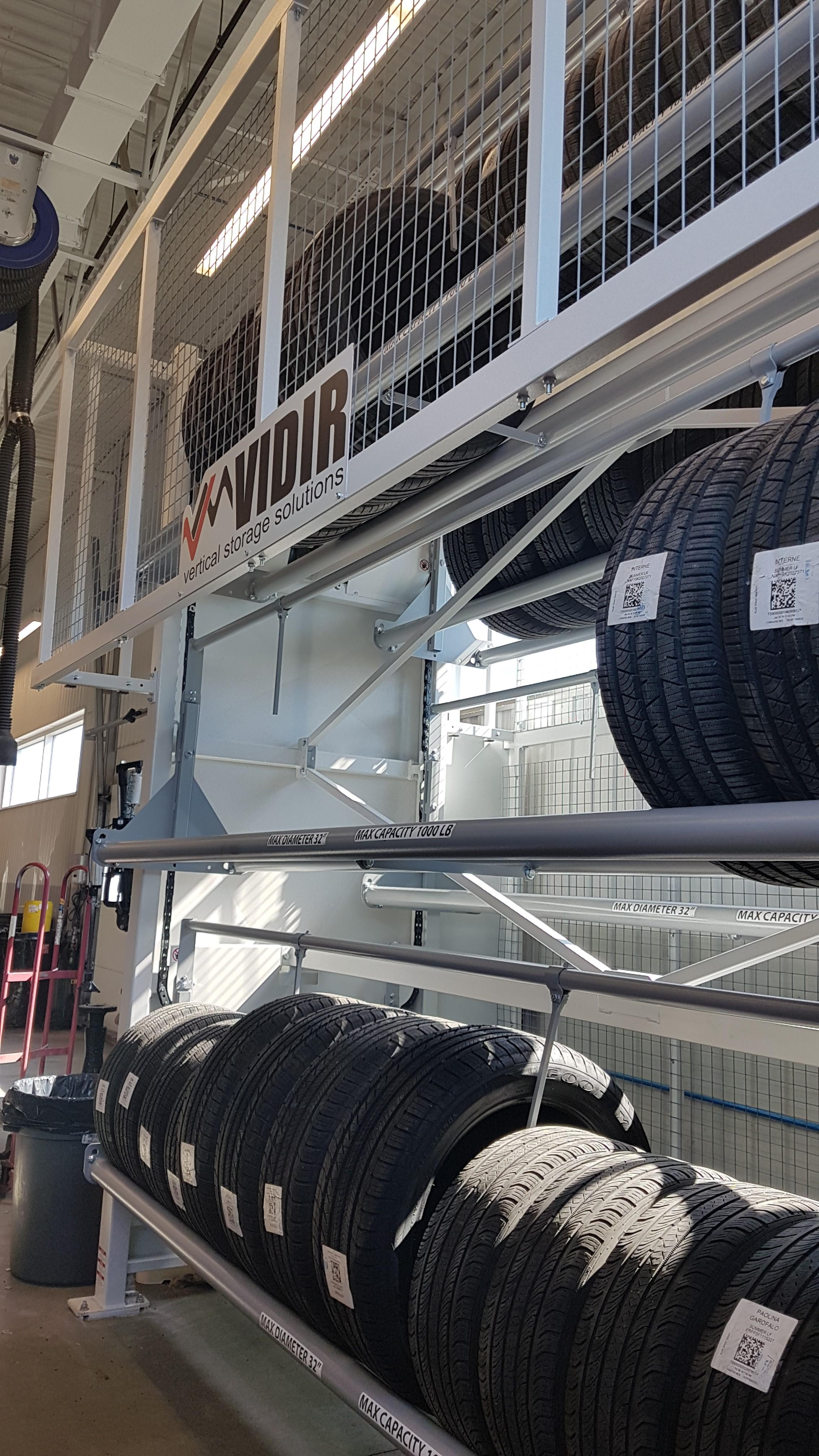 A Tire Carousel Makes the Transition From Season To Season Easier at Audi West-Island