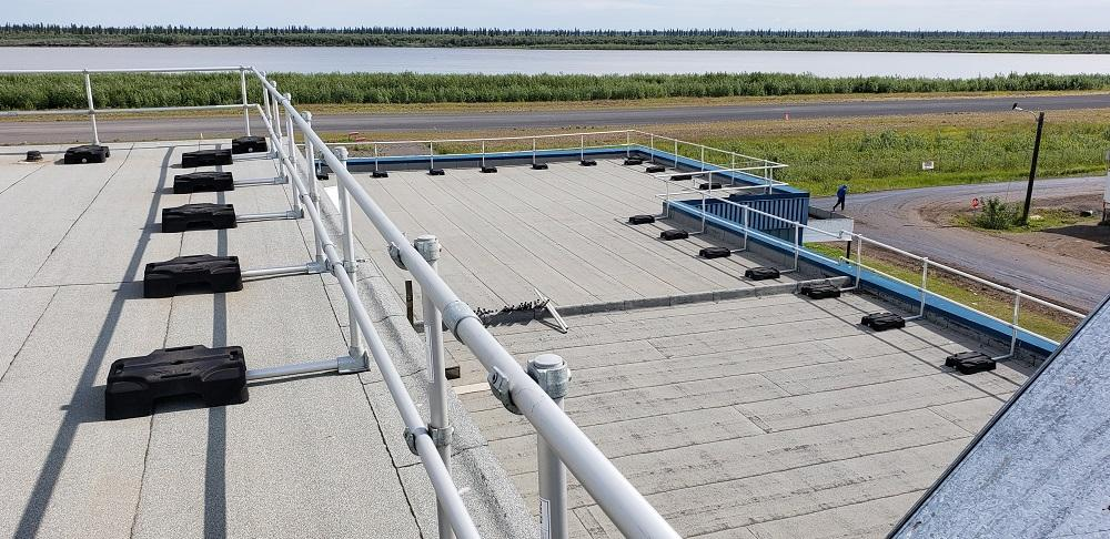 1500 linear feet of freestanding guardrails installed in the Northwest Territories.